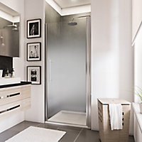 Porte de douche pivotante, 80 x 192 cm, Schulte NewStyle, verre transparent anticalcaire, Brouillard