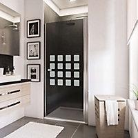Porte de douche pivotante, 80 x 192 cm, Schulte NewStyle, verre transparent anticalcaire, Cubic anthracite