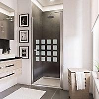 Porte de douche pivotante, 80 x 192 cm, Schulte NewStyle, verre transparent anticalcaire, Cubic transparent