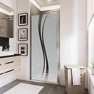 Porte de douche pivotante, 90 x 192 cm, Schulte NewStyle, verre transparent anticalcaire, Liane