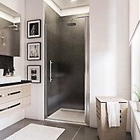 Porte de douche pivotante, 90 x 192 cm, Schulte NewStyle, verre transparent anticalcaire