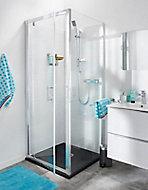 Porte de douche pivotante Cooke & Lewis Onega transparente 80 cm