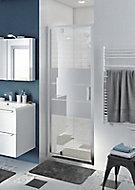 Porte de douche pivotante GoodHome Beloya miroir 70 cm