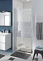 Porte de douche pivotante GoodHome Beloya miroir 90 cm