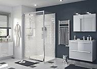 Porte de douche pivotante GoodHome Beloya transparente 120 cm