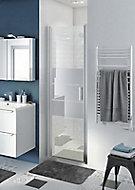 Porte de douche pivotante ouverture totale GoodHome Beloya miroir 70 cm