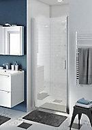 Porte de douche pivotante ouverture totale GoodHome Beloya transparente 90 cm