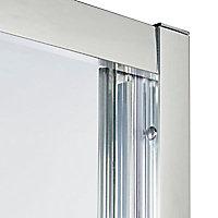 Porte de douche pliante Cooke & Lewis Onega transparent 80 cm