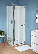 Porte de douche semi pivotante Cooke & Lewis Zilia transparent 80 cm