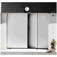 Porte de garage 4 vantaux PVC - L.240 x h.200 cm (en kit)