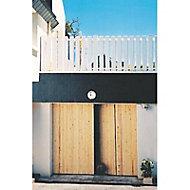 Porte de garage 4 vantaux sapin - L.240 x h.200 cm (en kit)