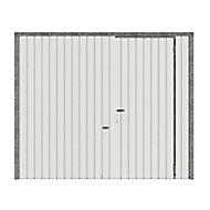 Porte de garage basculante GoodHome blanc avec portillon - L.240 x h.200 cm - manuelle (pré-montée)