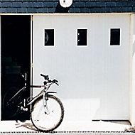 Porte de garage coulissante PVC hublots - L.240 x h.200 cm (en kit)