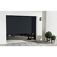 Porte de garage enroulable aluminium Kiev 2 anthracite - L.240 x h.200 cm (en kit)