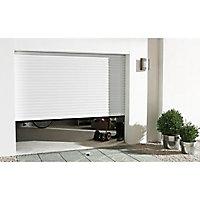 Porte de garage enroulable aluminium Kiev 2 blanc - L.240 x h.200 cm (en kit)