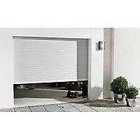 Porte de garage enroulable motorisée Protecta Agathe blanche - L.240 x h.200 cm (pré-montée)