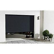 Porte de garage enroulable motorisée Protecta Agathe gris - L.240 x h.200 cm (pré-montée)