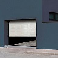 Porte de garage sectionnelle à cassettes blanche Paris - L.300 x h.200 cm (pré-montée)