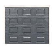 Porte de garage sectionnelle à cassettes Dublin grise - L.240 x h.200 cm (pré-montée)