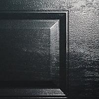 Porte de garage sectionnelle à cassettes GoodHome gris - L.240 x h.200 cm - motorisée (en kit)