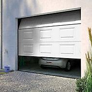 Porte de garage sectionnelle à cassettes Paris blanche - L.240 x h.200 cm (pré-montée)