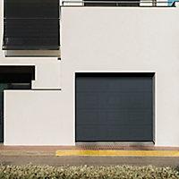 Porte de garage sectionnelle GoodHome gris à K7 - L.240 x h.200 cm - motorisée (en kit)