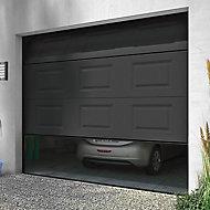 Porte de garage sectionnelle motorisée Turia anthracite - L.240 x h.200 cm (en kit)