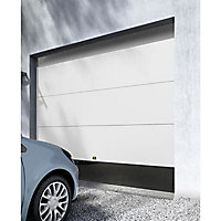 Porte de garage sectionnelle Rome blanche - L.240 x h.200 cm (pré-montée)