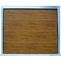 Porte de garage sectionnelle Vienne ton bois - L.240 x h.200 cm (pré-montée)