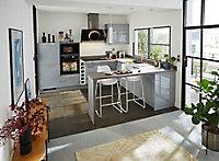 Porte de meuble de cuisine GoodHome Alisma Gris l. 39.7 cm x H. 71.5 cm