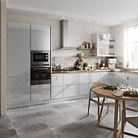 Porte de meuble de cuisine GoodHome Alisma Gris l. 59.7 cm x H. 71.5 cm