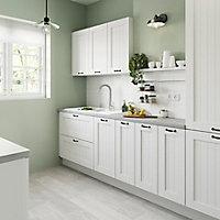 Porte de meuble de cuisine GoodHome Alpinia Blanc l. 29.7 cm x H. 89.5 cm