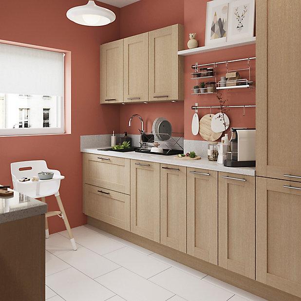 porte de meuble de cuisine goodhome alpinia chene l 49 7 cm x h 71 5 cm