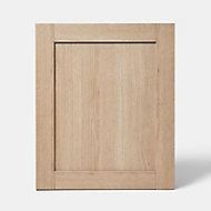 Porte de meuble de cuisine GoodHome Alpinia chêne l. 59.7 cm x H. 71.5 cm