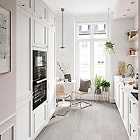 Porte de meuble de cuisine GoodHome Artemisia Blanc mouluré l. 39.7 cm x H. 89.5 cm