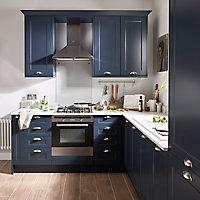 Porte de meuble de cuisine GoodHome Artemisia Bleu nuit l. 44.7 cm x H 57.1 cm
