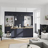 Porte de meuble de cuisine GoodHome Artemisia Bleu nuit l. 59.7 cm x H. 71.5 cm