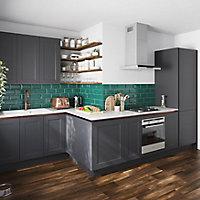 Porte de meuble de cuisine GoodHome Artemisia Graphite l. 29.7 cm x H. 71.5 cm