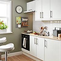 Porte de meuble de cuisine GoodHome Balsamita Blanc l. 29.7 cm x H. 71.5 cm