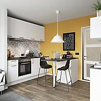 Porte de meuble de cuisine GoodHome Balsamita Blanc l. 39.7 cm x H. 71.5 cm