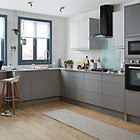 Porte de meuble de cuisine GoodHome Balsamita Gris l. 29.7 cm x H. 71.5 cm