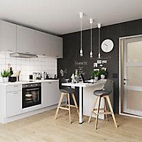 Porte de meuble de cuisine GoodHome Balsamita Gris l. 39.7 cm x H. 71.5 cm