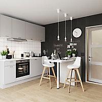 Porte de meuble de cuisine GoodHome Balsamita Gris l. 49.7 cm x H. 71.5 cm