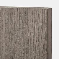 Porte de meuble de cuisine GoodHome Chia Gris l. 29.7 cm x H. 71.5 cm