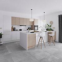 Porte de meuble de cuisine GoodHome Garcinia blanc brillant l. 24.7 cm x H. 71.5 cm