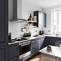 Porte de meuble de cuisine GoodHome Garcinia ciment l. 29.7 cm x H. 71.5 cm
