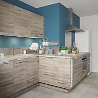 Porte de meuble de cuisine GoodHome Pachira chêne l. 39.7 cm x H. 71.5 cm