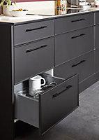 Porte de meuble de cuisine GoodHome Pasilla Noir l. 59.7 cm x H. 71.5 cm