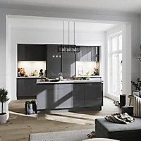 Porte de meuble de cuisine GoodHome Stevia Anthracite l. 14.7 cm x H. 71.5 cm