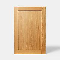 Porte de meuble de cuisine GoodHome Verbena chêne massif l. 59.7 cm x H. 89.5 cm